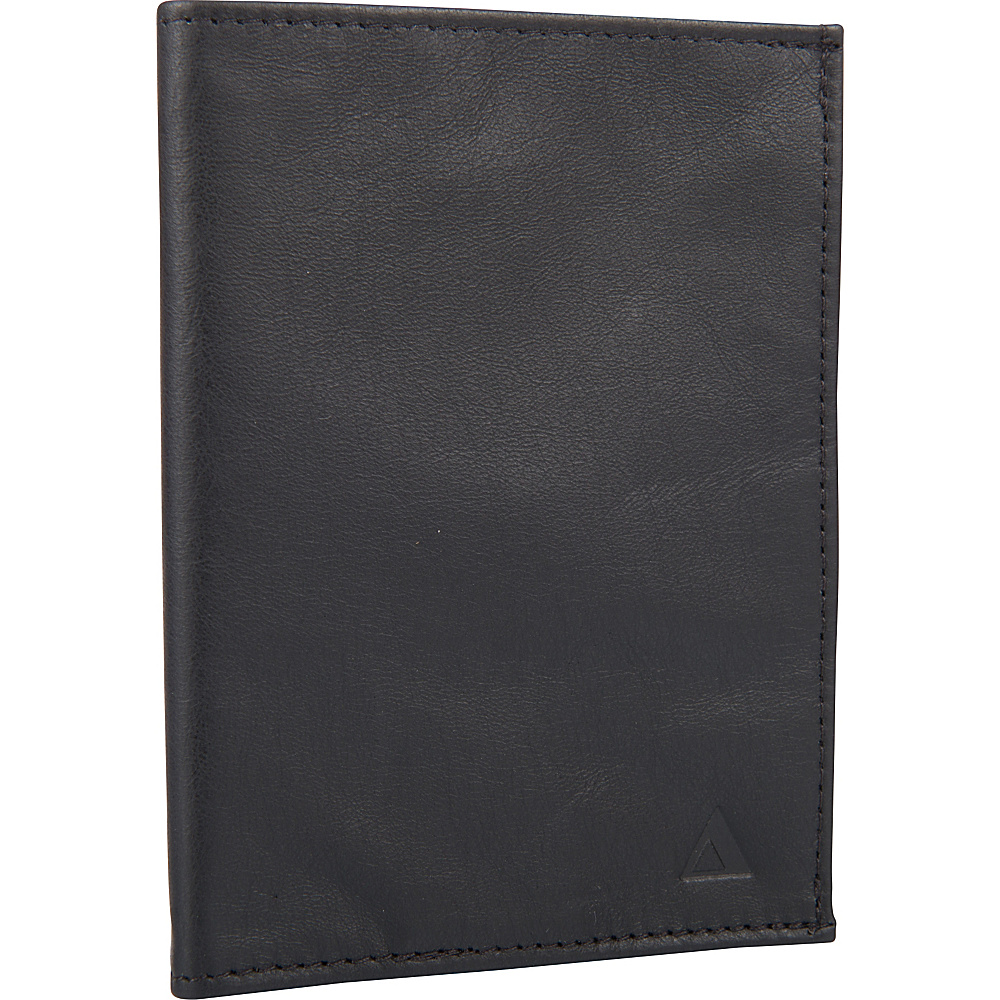Allett Leather RFID Passport Wallet Black - Allett Men's Wallets