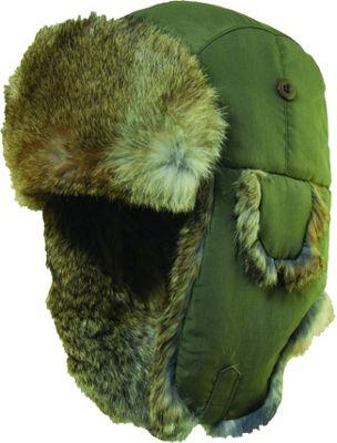 Woolrich Supplex Fur Trooper Hat L - Olive - Woolrich Hats