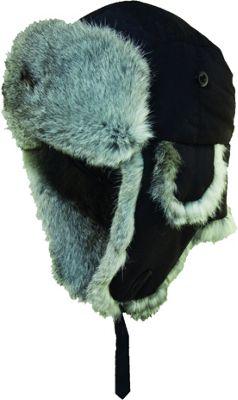 Woolrich Supplex Fur Trooper Hat M - Black - Woolrich Hats