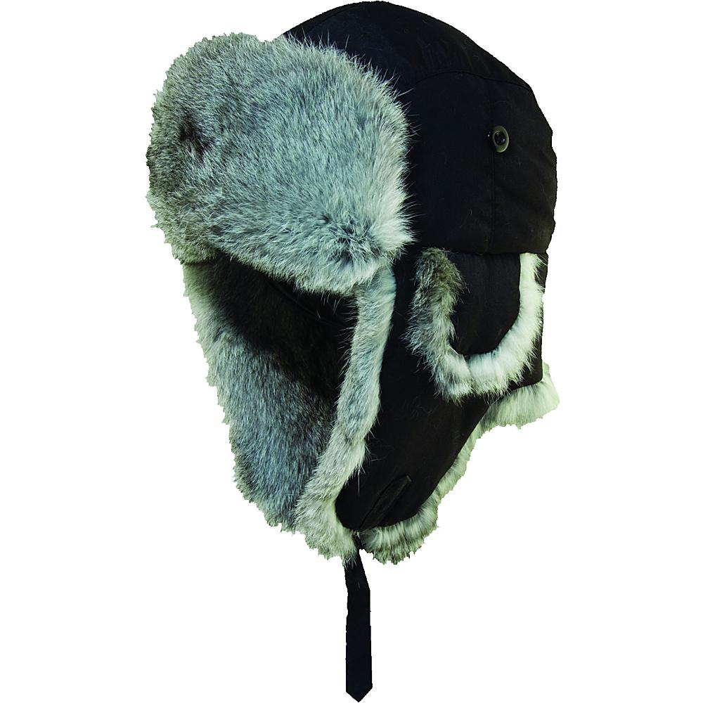 de81bbd570e UPC 016698686112 product image for Woolrich Supplex Fur Trooper Hat  Black-Large - Woolrich Hats ...