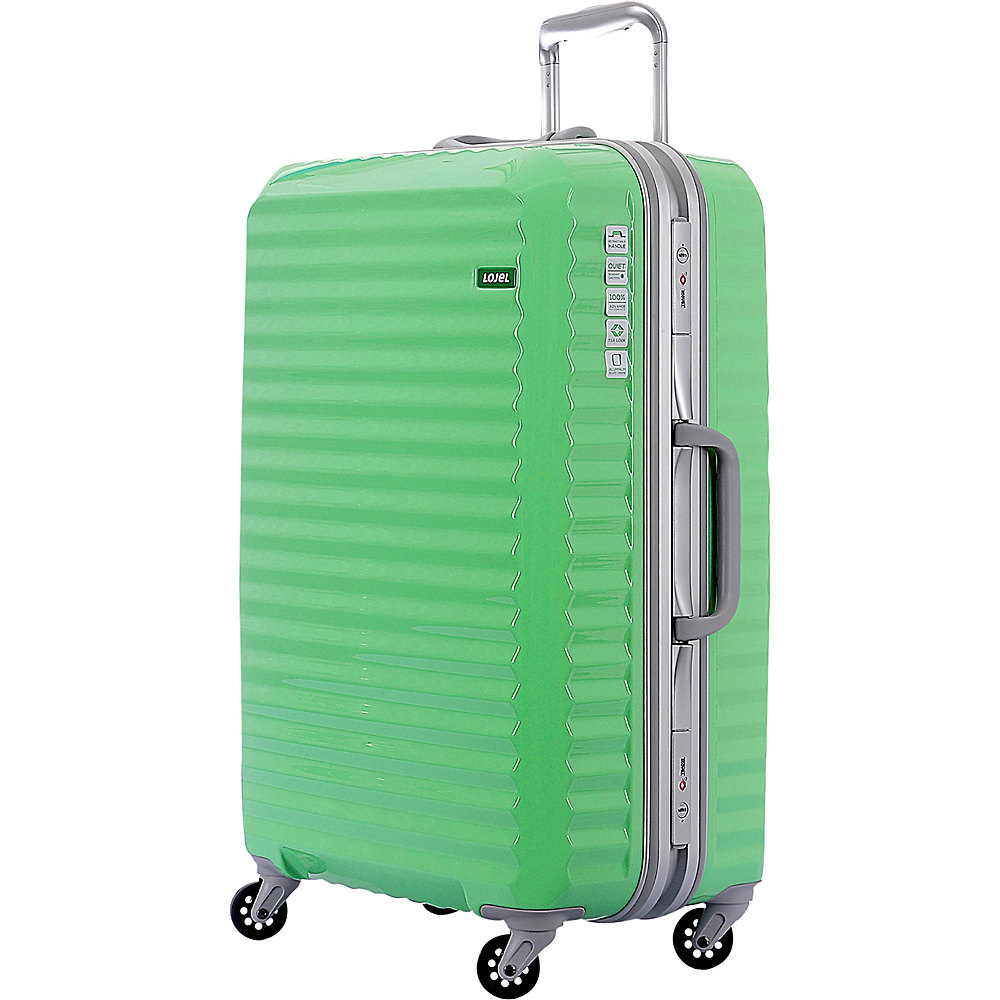 Lojel Groove Frame Medium Luggage Lime Green Lojel Hardside Checked