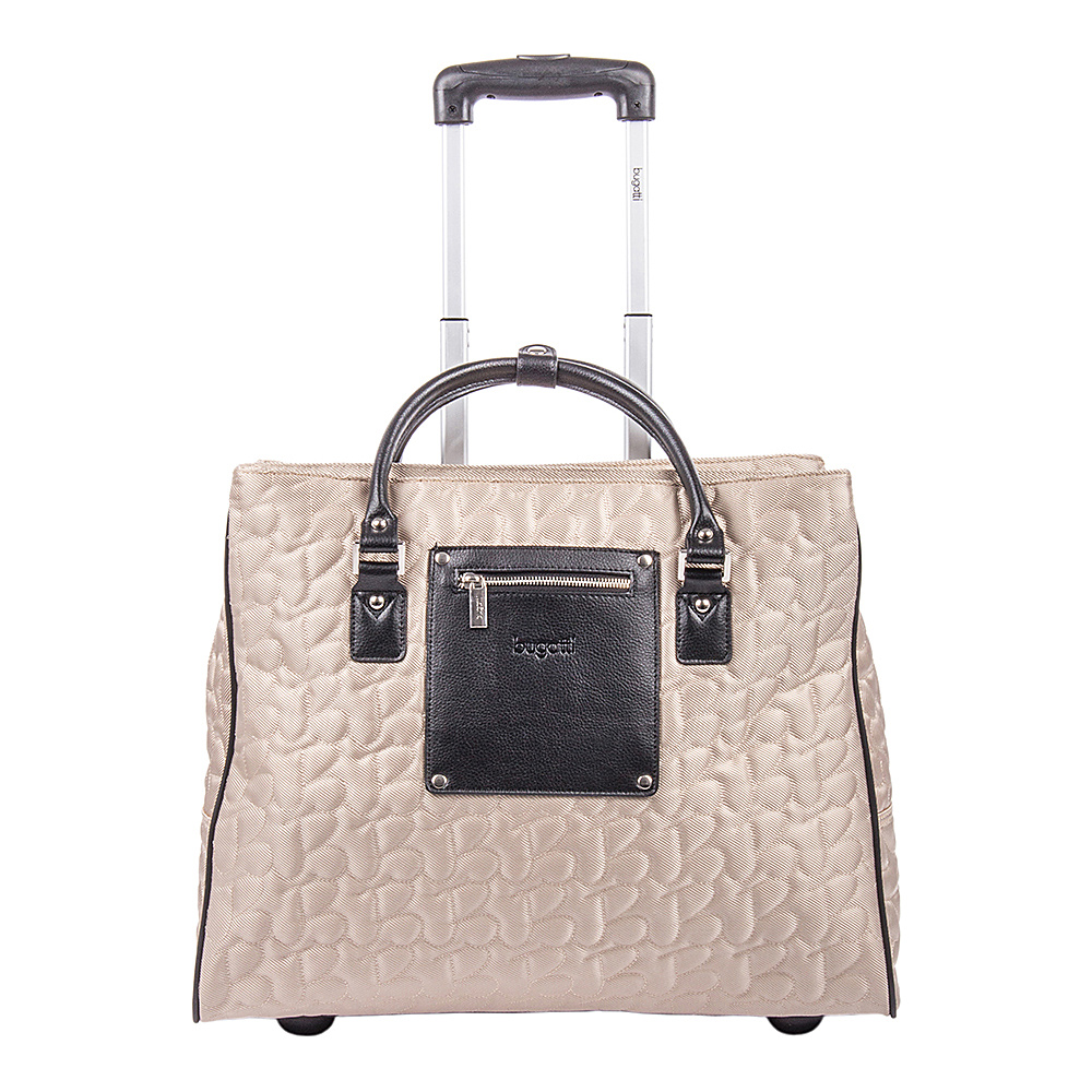Bugatti Vail Ladies Rolling Laptop Tote Beige - Bugatti Women's Business Bags