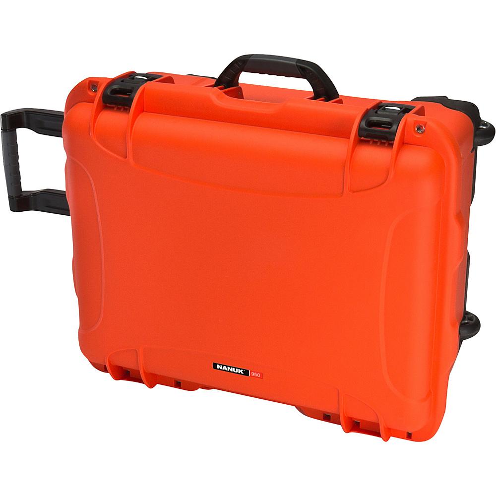 NANUK 950 Case With Padded Divider Orange NANUK Hardside Luggage