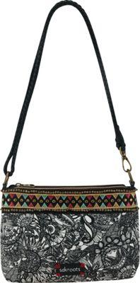 Sakroots Artist Circle Campus Mini Black and White Spirit Desert - Sakroots Fabric Handbags