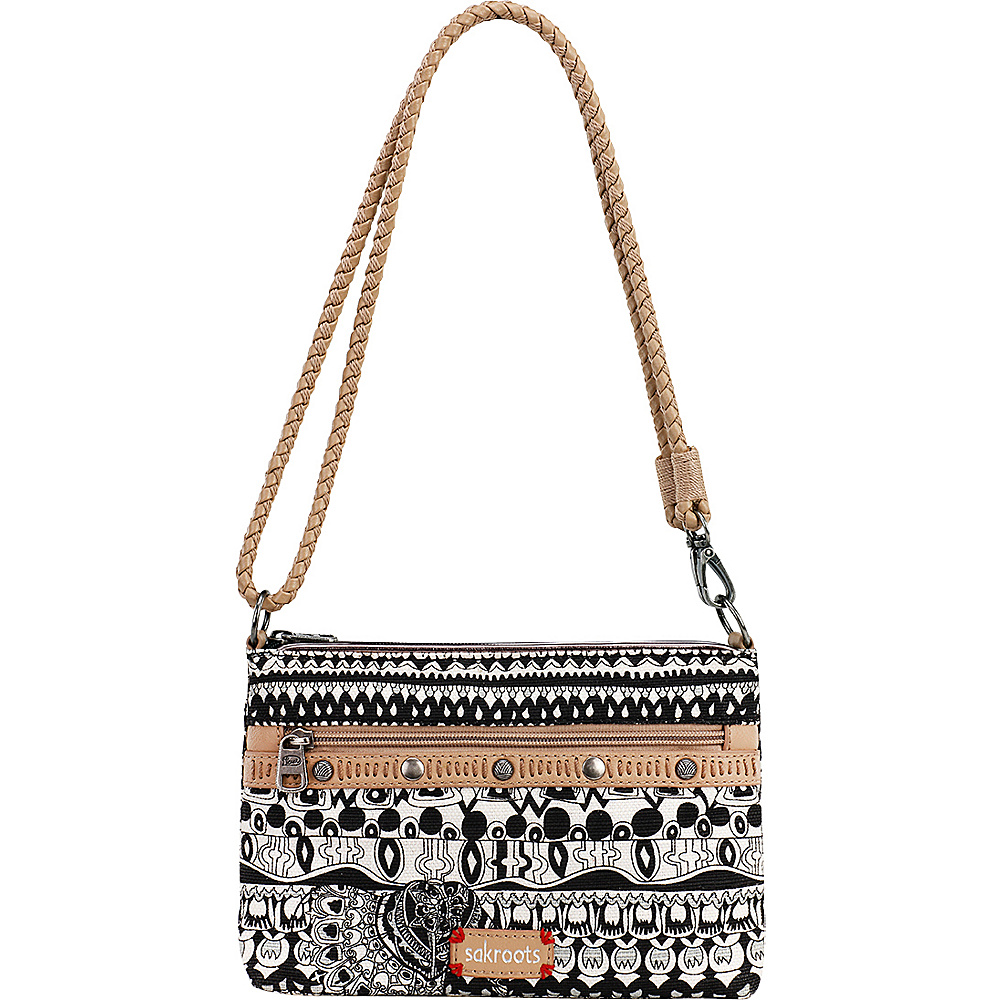 Sakroots Artist Circle Campus Mini Black and White One World Sakroots Fabric Handbags