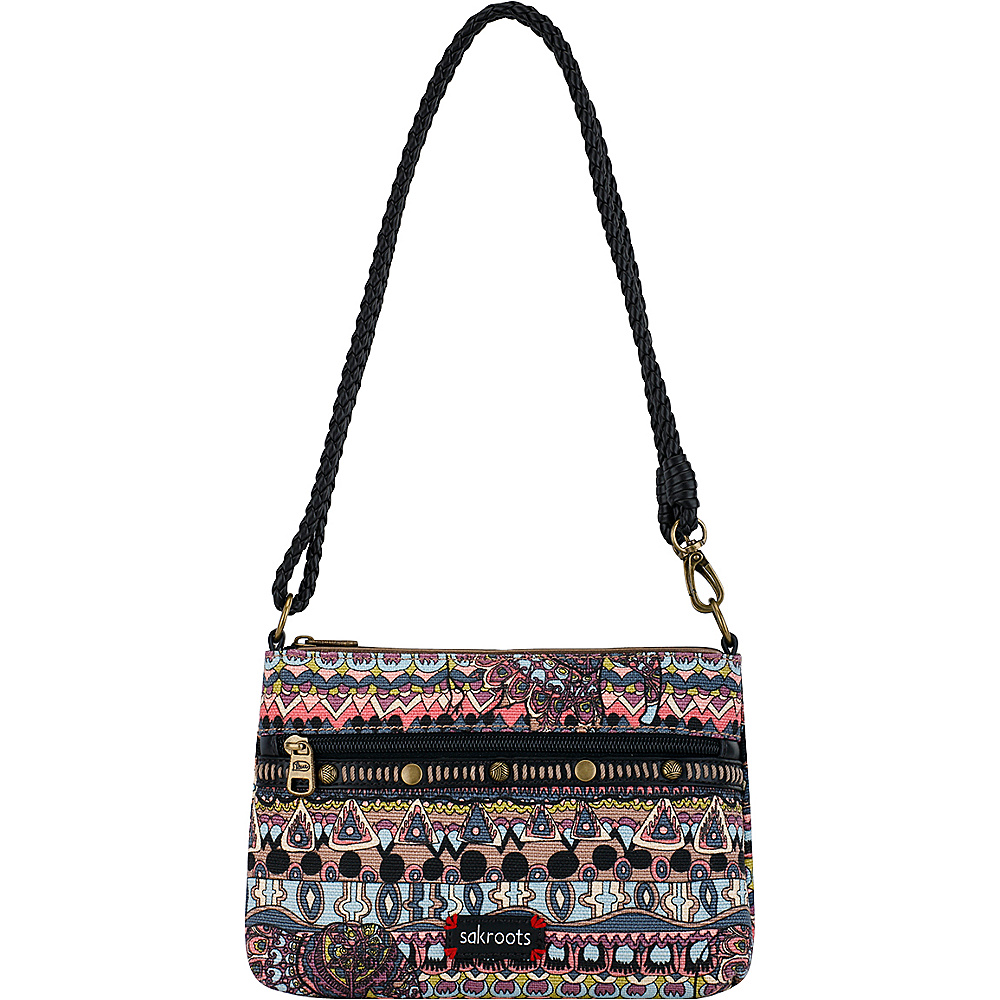 Sakroots Artist Circle Campus Mini Taupe One World - Sakroots Fabric Handbags - Handbags, Fabric Handbags