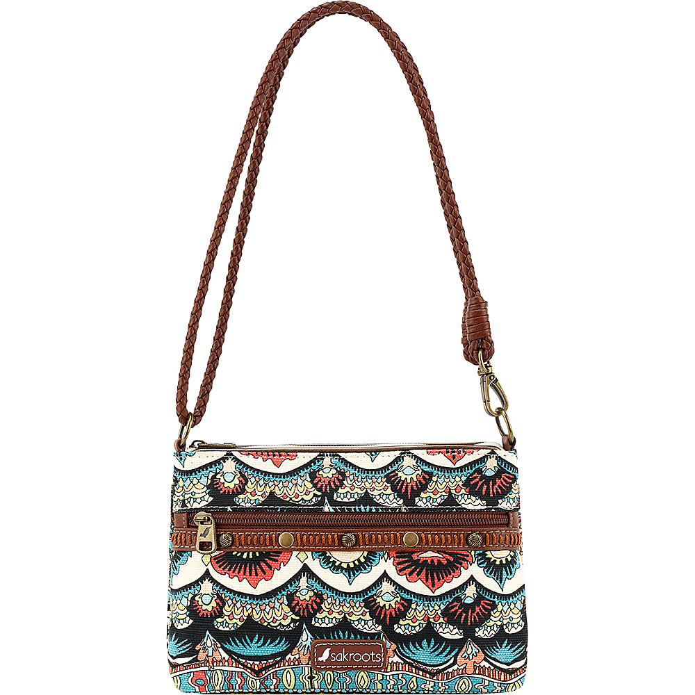 Sakroots Artist Circle Campus Mini Natural One World - Sakroots Fabric Handbags - Handbags, Fabric Handbags