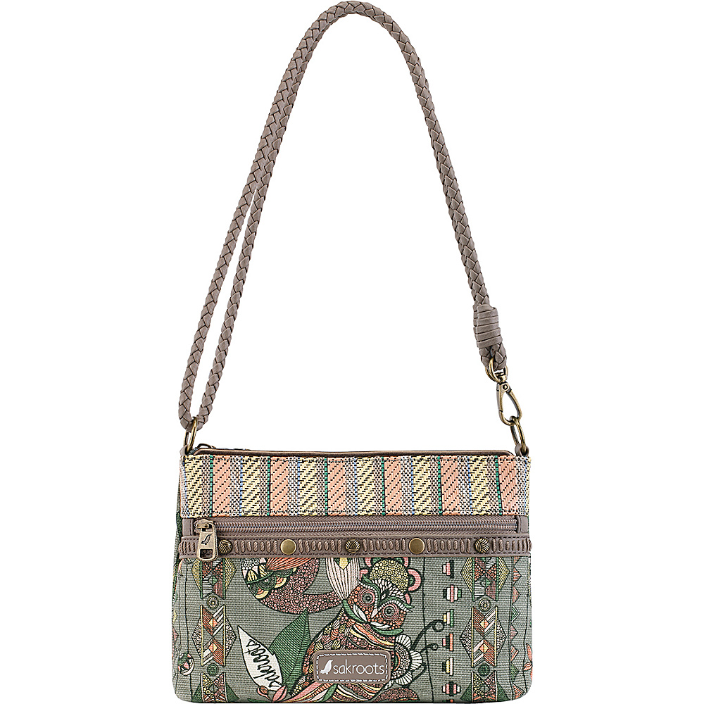 Sakroots Artist Circle Campus Mini Olive Spirit Desert - Sakroots Fabric Handbags - Handbags, Fabric Handbags