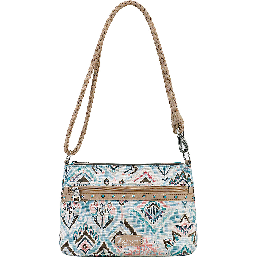 Sakroots Artist Circle Campus Mini Turq Brave Beauti - Sakroots Fabric Handbags - Handbags, Fabric Handbags