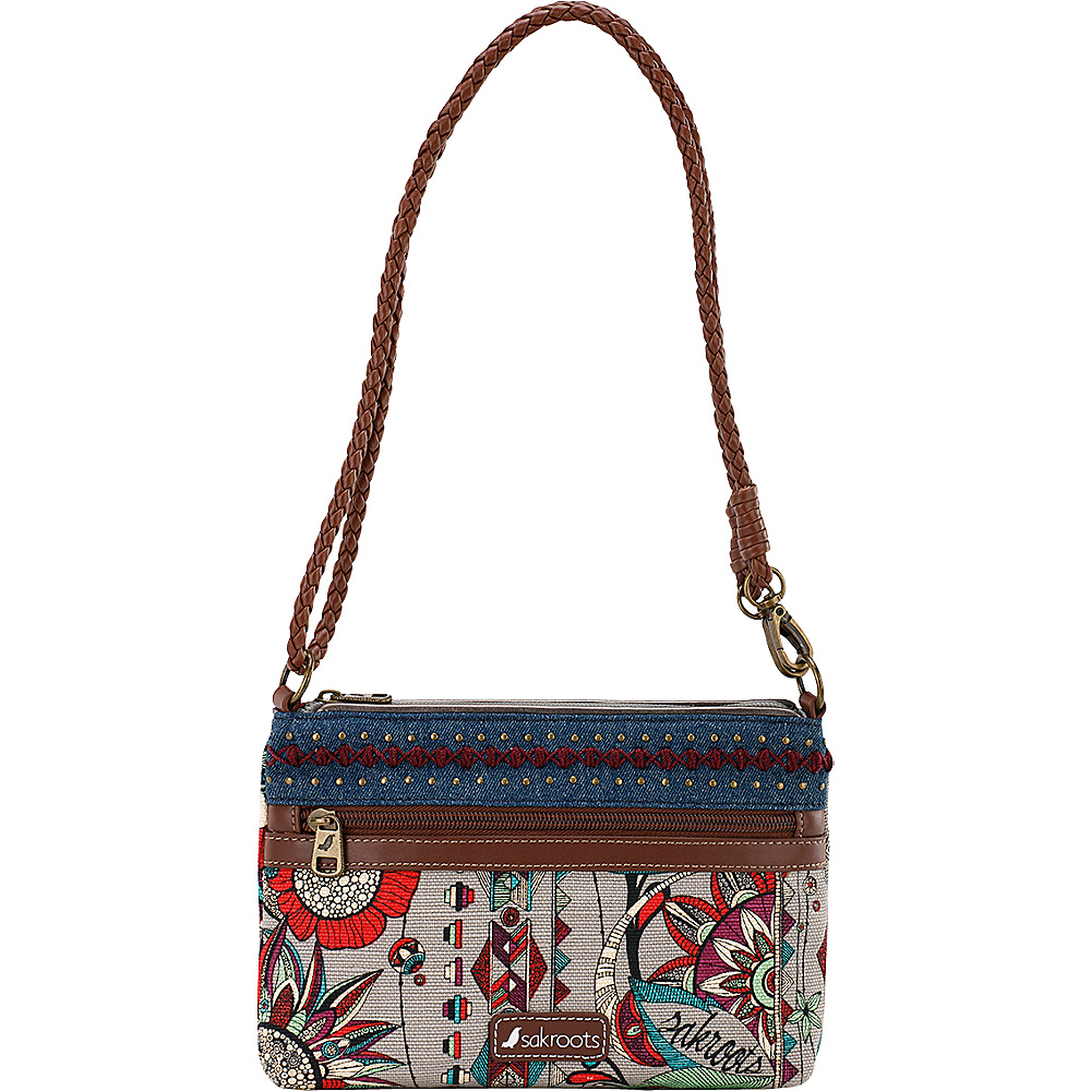 Sakroots Artist Circle Campus Mini Charcoal Spirit Desert - Sakroots Fabric Handbags - Handbags, Fabric Handbags