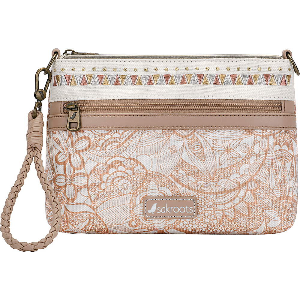 Sakroots Artist Circle Campus Mini Rose Gold Spirit Desert - Sakroots Fabric Handbags - Handbags, Fabric Handbags