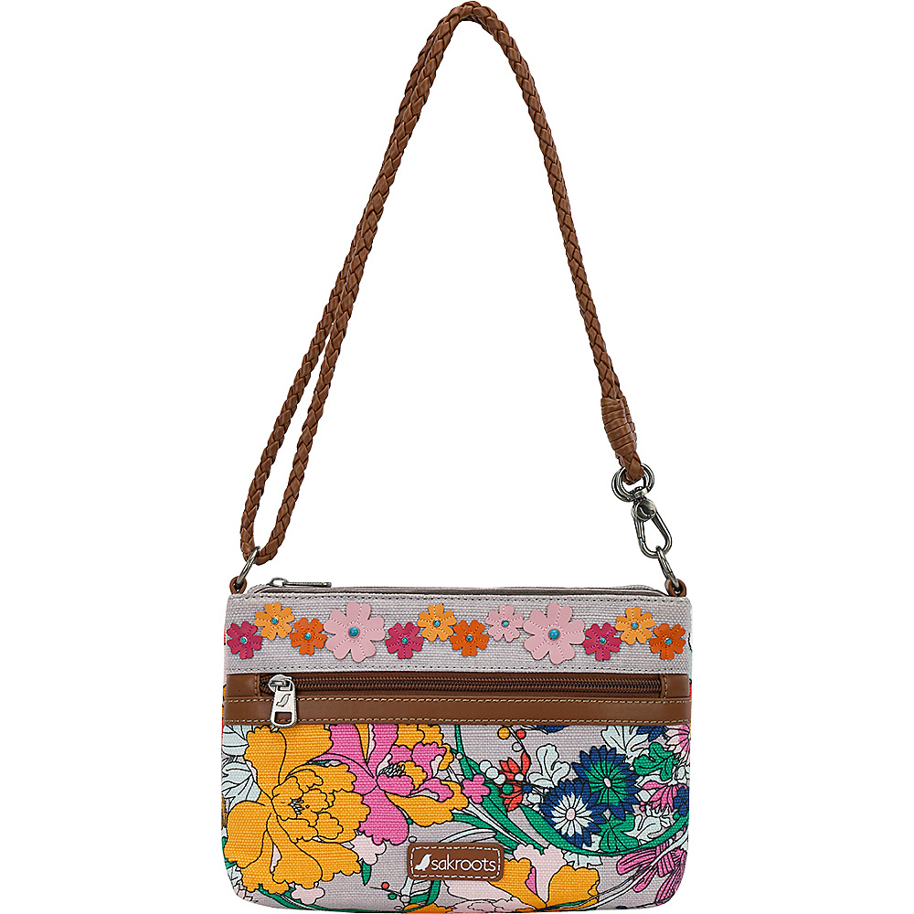 Sakroots Artist Circle Campus Mini Lilac Flower Power - Sakroots Fabric Handbags - Handbags, Fabric Handbags