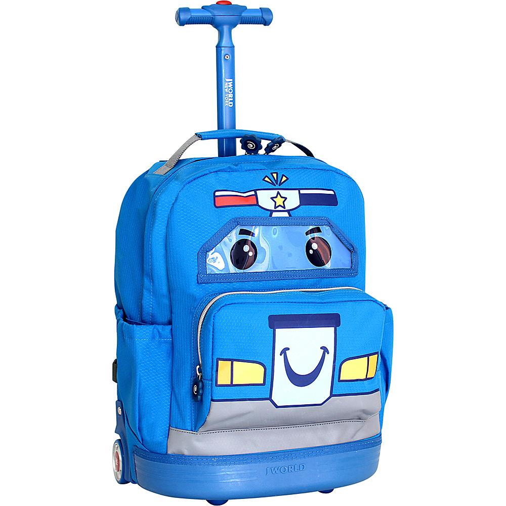 J World New York Patrol Rolling Backpack Blue - J World New York Rolling Backpacks - Backpacks, Rolling Backpacks