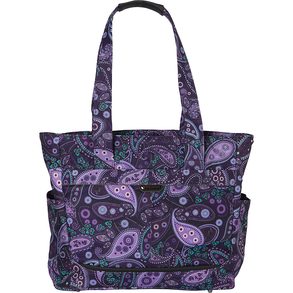 Ricardo Beverly Hills Mar Vista 18 Inch Shopper Purple Paisley Ricardo Beverly Hills Luggage Totes and Satchels