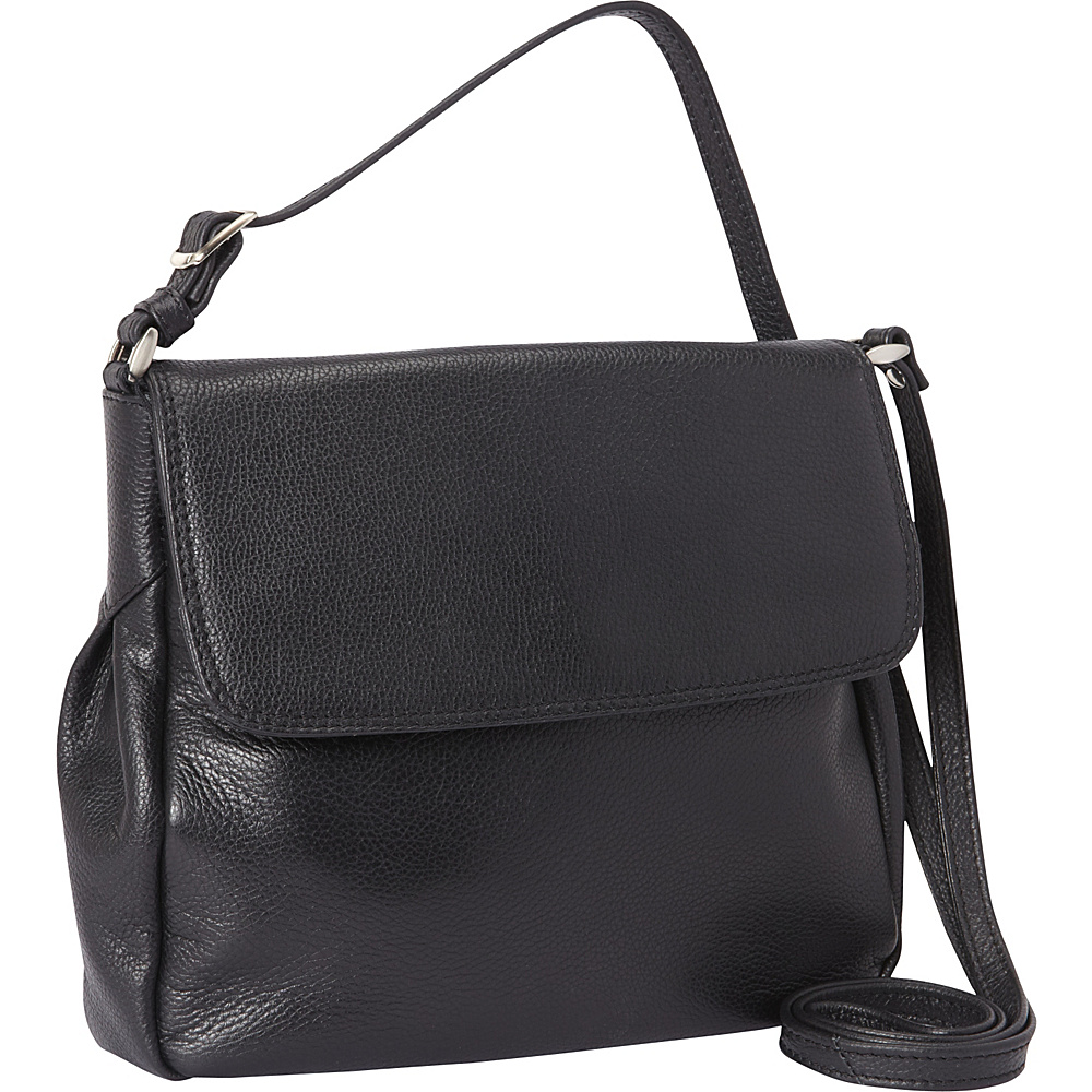 Derek Alexander Small 1 4 Flap Crossbody Black Derek Alexander Leather Handbags