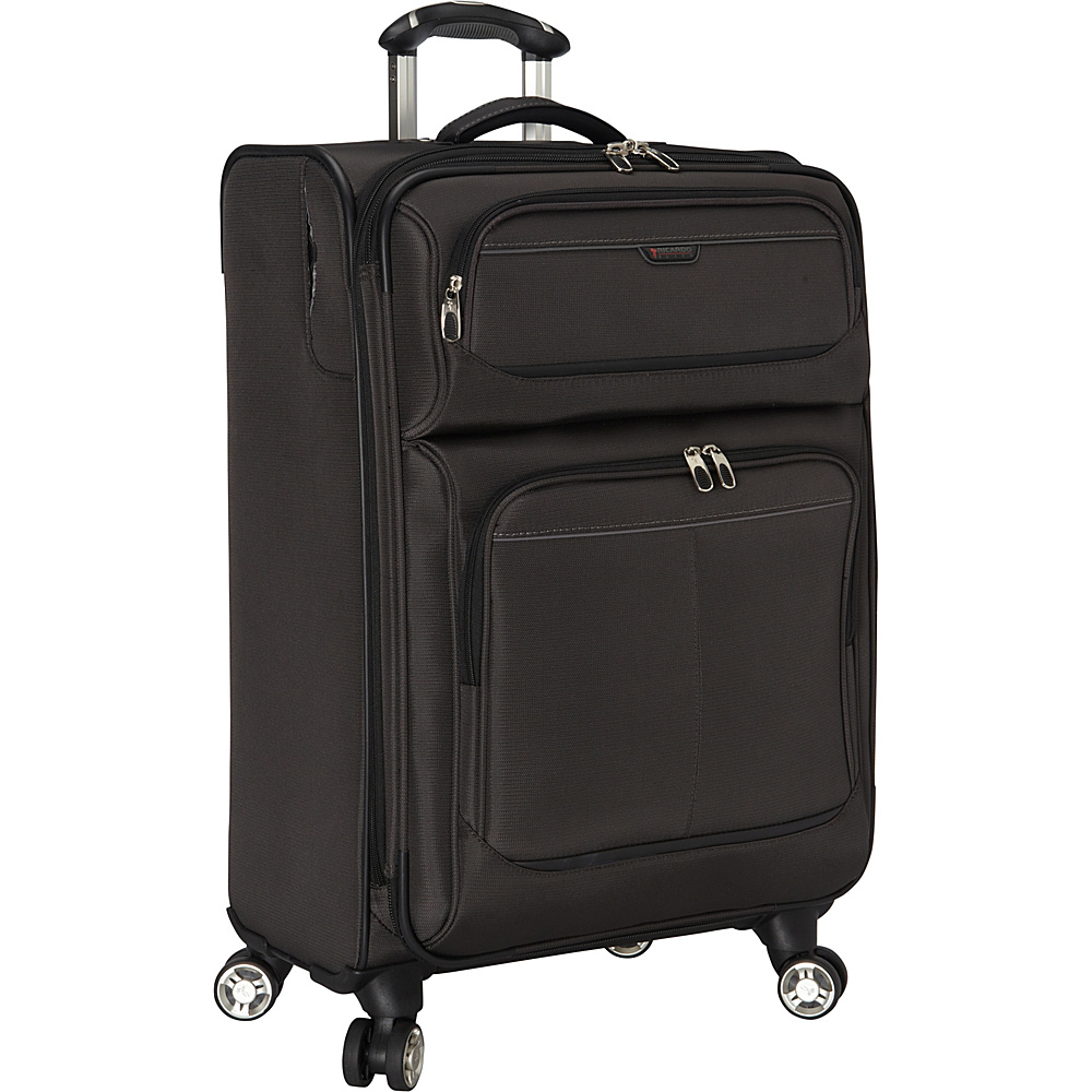 Ricardo Beverly Hills Mar Vista 24 Inch 4 Wheeled Expandable Upright Graphite Ricardo Beverly Hills Softside Checked