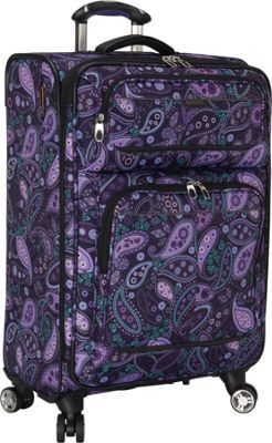 Ricardo Beverly Hills Mar Vista 24-Inch 4 Wheeled Expandable Upright Purple Paisley - Ricardo Beverly Hills Softside Checked