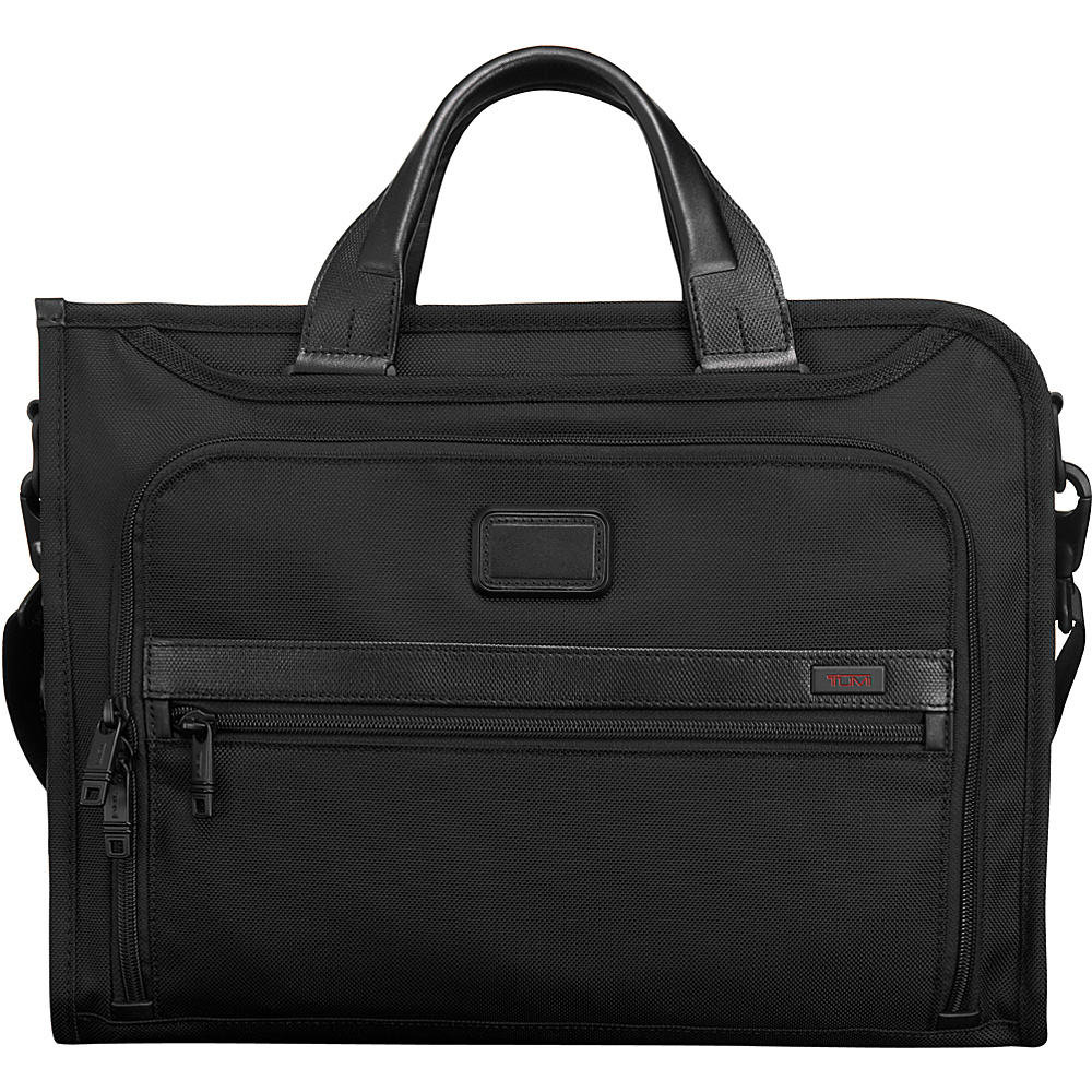 Tumi Alpha 2 Slim Deluxe Portfolio Black Tumi Non Wheeled Business Cases