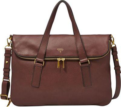 Fossil Preston Tote Espresso - Fossil Leather Handbags
