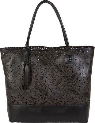 BUCO Paisley Ashlea Tote Black - BUCO Manmade Handbags