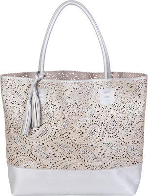 BUCO Paisley Ashlea Tote Silver - BUCO Manmade Handbags
