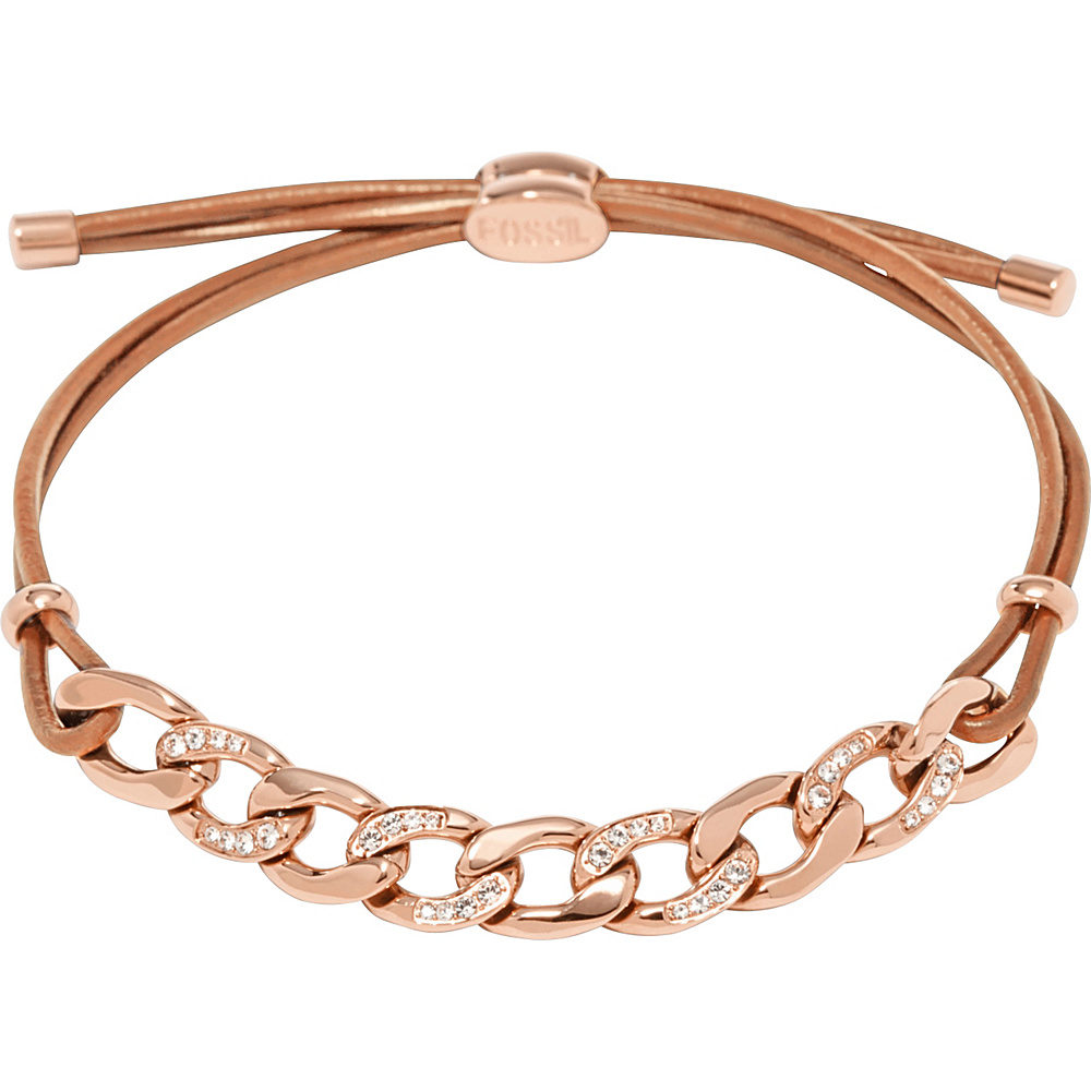 Fossil Glitz Curb Chain Starter Bracelet Rose Gold/Turquois - Fossil Other Fashion Accessories - Fashion Accessories, Other Fashion Accessories