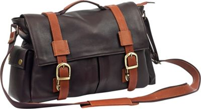 Robert Myers Classic Messenger Brown with Tan - Robert Myers Messenger Bags