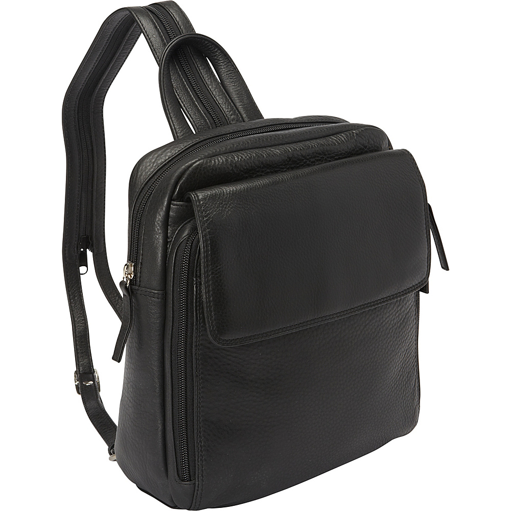 Derek Alexander Top Zip Sling Backpack Black Derek Alexander Leather Handbags