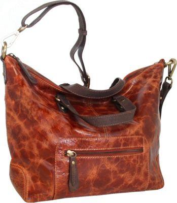 Nino Bossi Convertible Kate Crossbody Cognac - Nino Bossi Leather Handbags