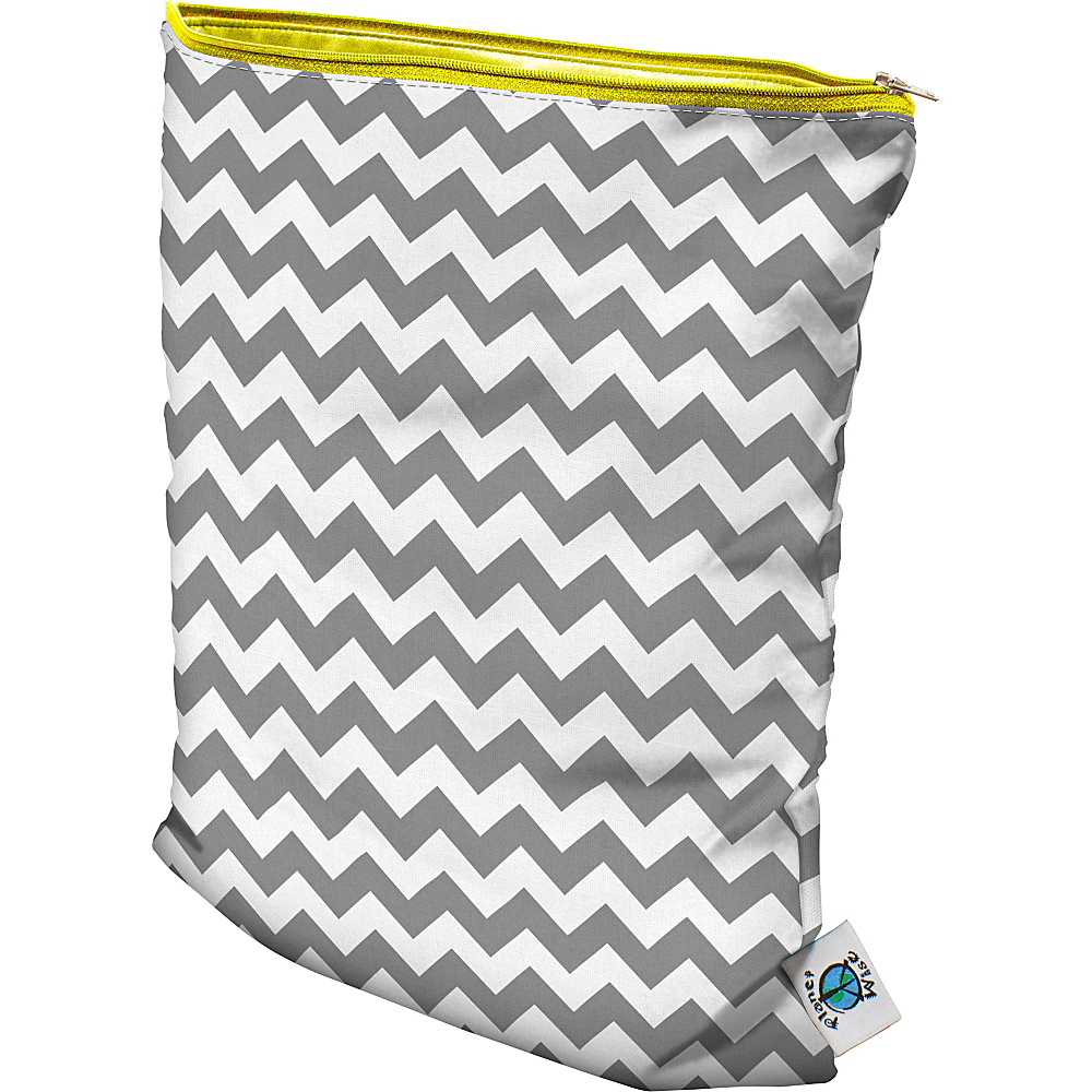 Planet Wise Medium Wet Bag Gray Chevron Planet Wise Diaper Bags Accessories