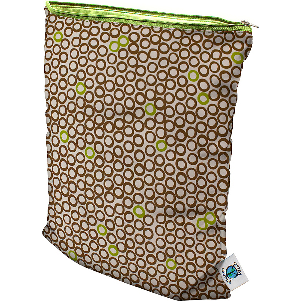 Planet Wise Medium Wet Bag Lime Cocoa Bean - Planet Wise Diaper Bags & Accessories
