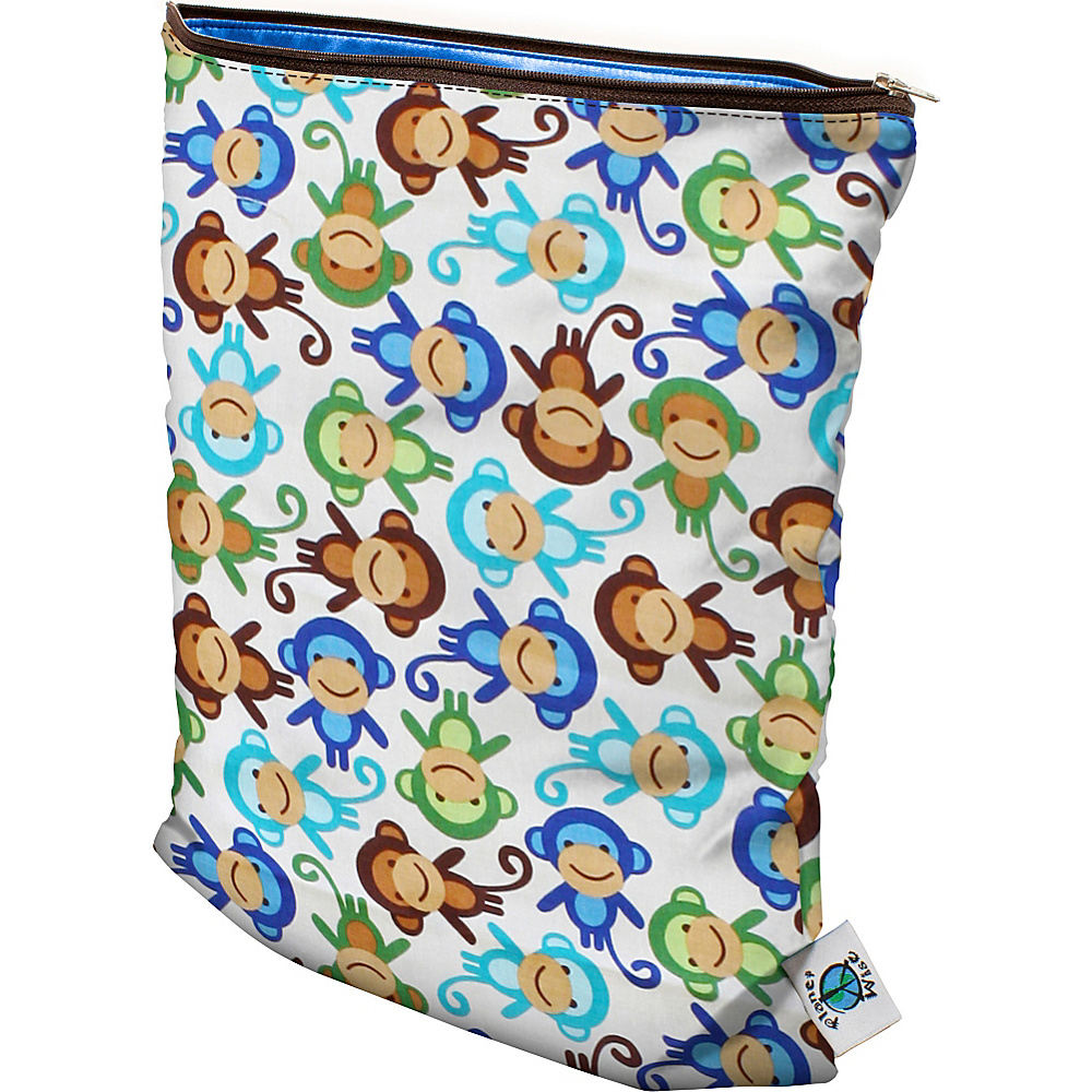 Planet Wise Medium Wet Bag Monkey Fun Planet Wise Diaper Bags Accessories