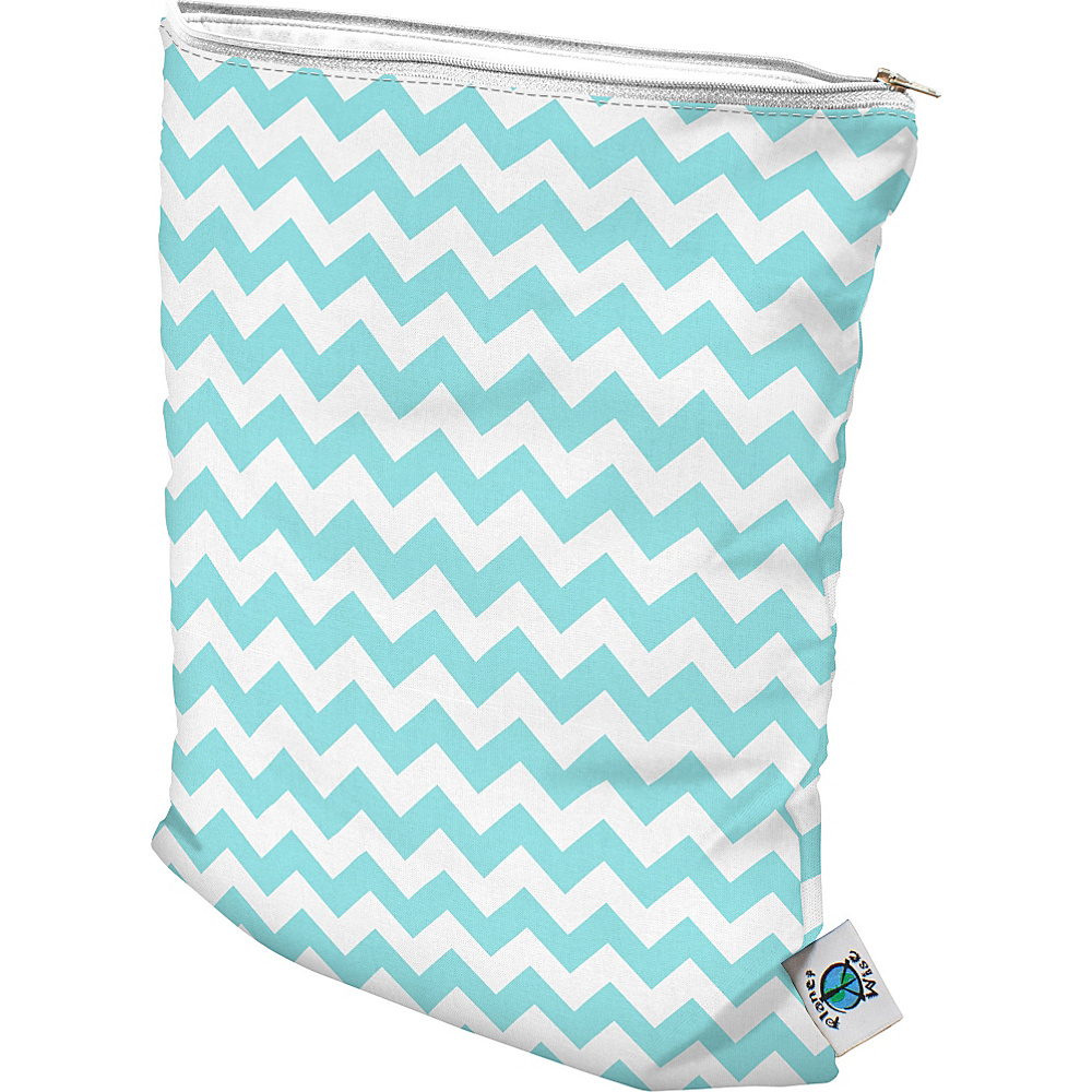 Planet Wise Medium Wet Bag Teal Chevron Planet Wise Diaper Bags Accessories