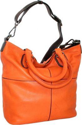 Nino Bossi Four Square Tote Orange - Nino Bossi Leather Handbags