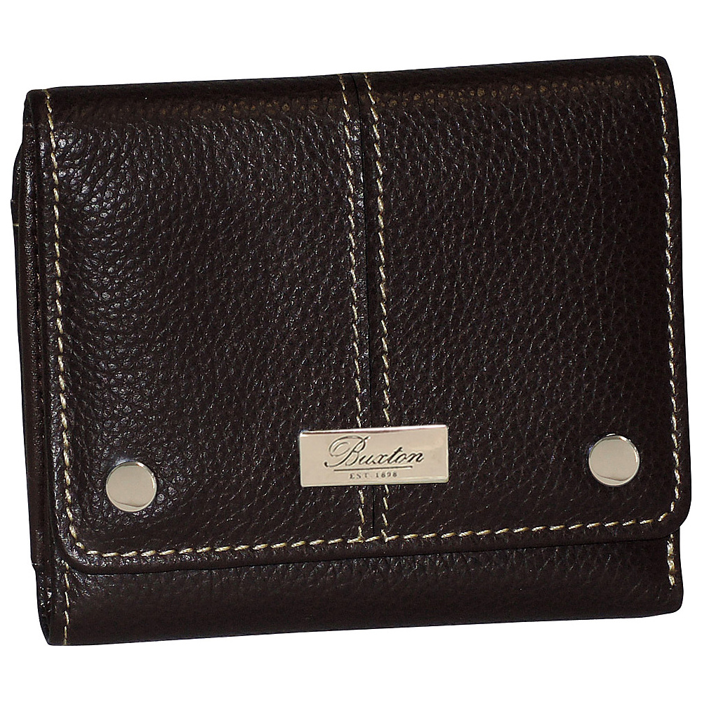 Buxton Westcott Zip French Purse Brown Buxton Women s Wallets