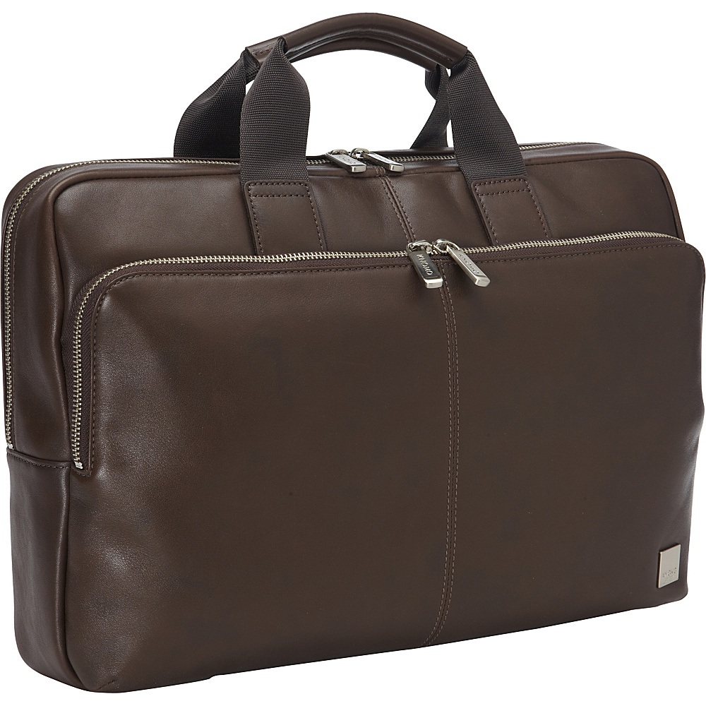 KNOMO London Newbury 15 Briefcase Brown KNOMO London Non Wheeled Business Cases