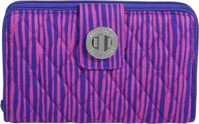 Vera Bradley Turn Lock Wallet Impressionista Stripe - Vera Bradley Ladies Small Wallets