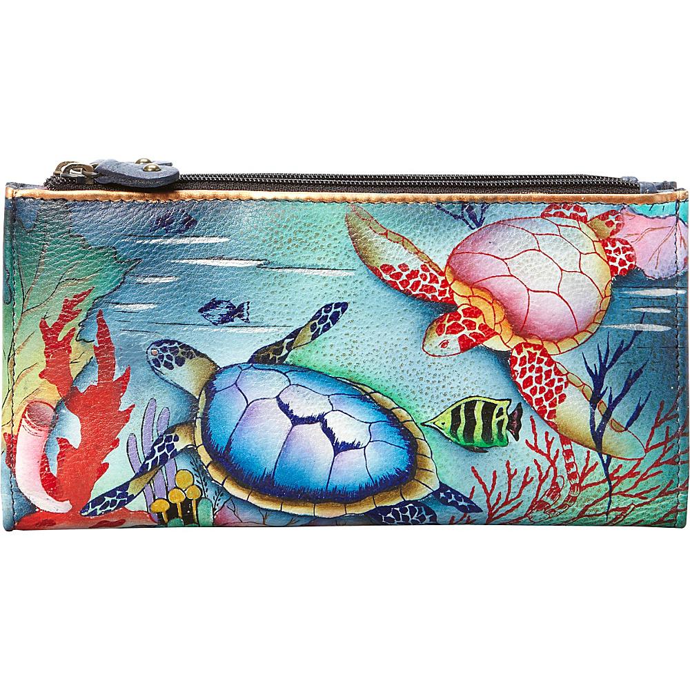 Anuschka Two Fold Wallet Ocean Treasures Anuschka Women s Wallets