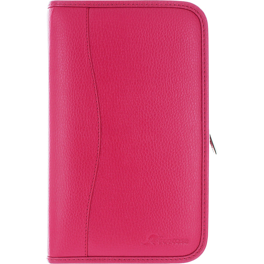 rooCASE Executive Portfolio Leather Case Cover for Samsung Galaxy Tab S 8.4 SM T700 Magenta rooCASE Electronic Cases