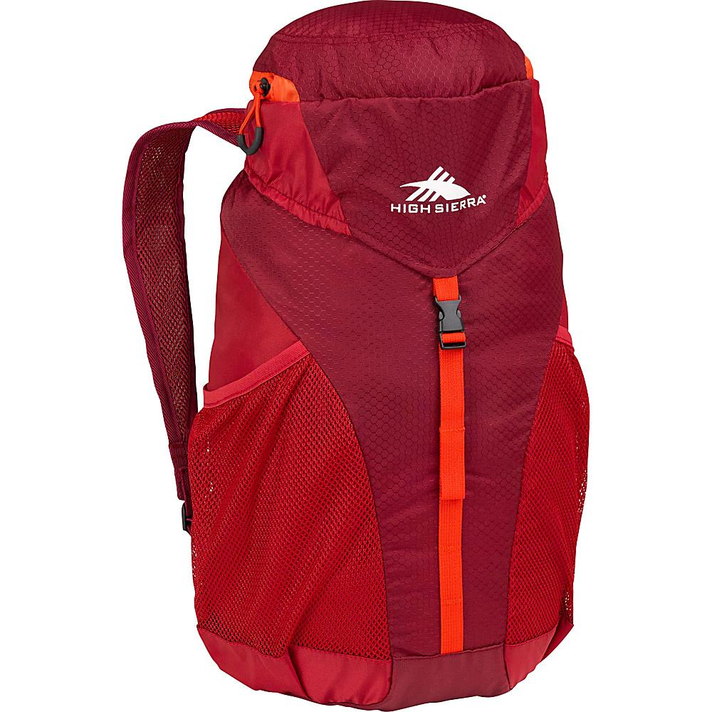 High Sierra 20L Packable Sport Backpack BRICK RED/CARMINE/RED LINE - High Sierra Packable Bags