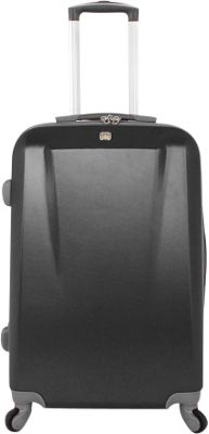 SwissGear Travel Gear SwissGear Travel Gear 24 inch Spinner ABS Black - SwissGear Travel Gear Hardside Checked
