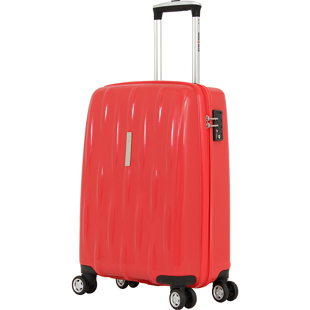 SwissGear Travel Gear 20 Hardside Spinner Orange Red SwissGear Travel Gear Hardside Carry On