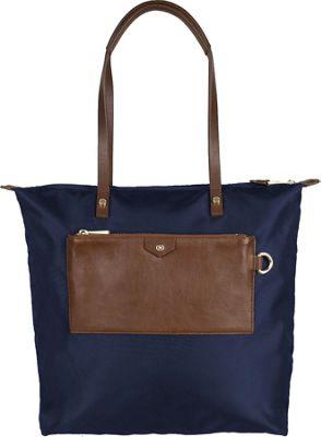 Boulevard Callie Long Tote Navy - Boulevard Fabric Handbags