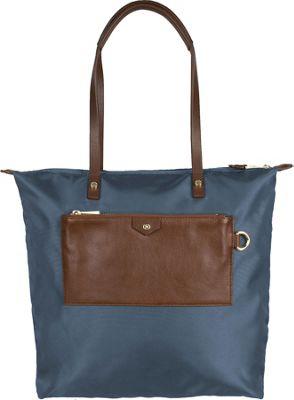 Boulevard Callie Long Tote Lake Blue - Boulevard Fabric Handbags