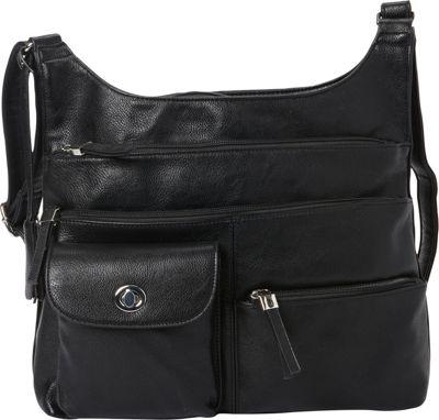 La Diva RFID Cena Organizer Crossbody - Exclusive Black - La Diva Manmade Handbags