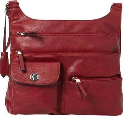La Diva RFID Cena Organizer Crossbody - Exclusive Red - La Diva Manmade Handbags
