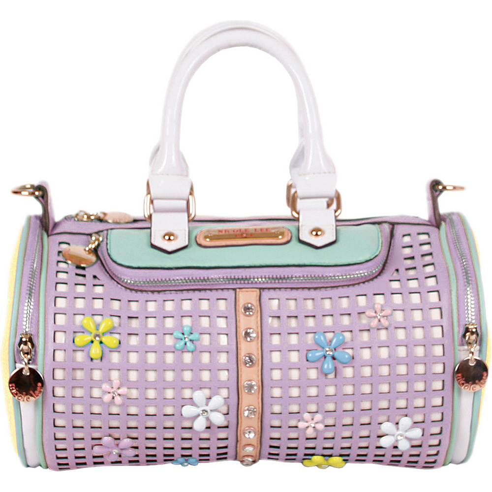 Nicole Lee Selina Floral Pastel Barrel Bag Lilac - Nicole Lee Manmade Handbags