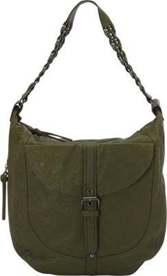 Donna Bella Designs Piper Rustic Hobo Bag Green - Donna Bella Designs Manmade Handbags