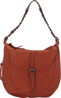 Donna Bella Designs Piper Rustic Hobo Bag Orange - Donna Bella Designs Manmade Handbags