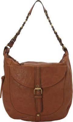 Donna Bella Designs Piper Rustic Hobo Bag Tan - Donna Bella Designs Manmade Handbags